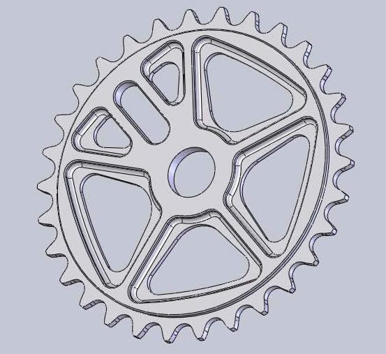 New Shape bicycles sprocket - Here in 19MM