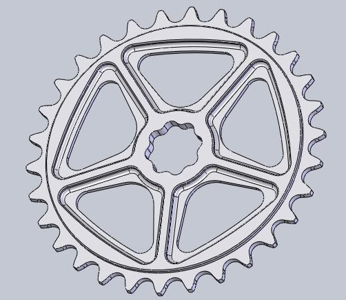 New Shape bicycles sprocket - Here in spline version