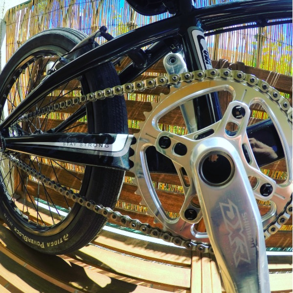 Bérenger's custom racing Shape bicycles sprocket