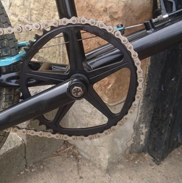 Dan's 44T custom Shape bicycles sprocket