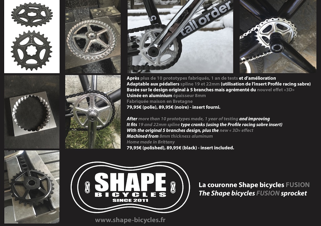 Shape bicycles Fusion sprocket
