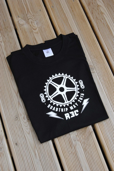 Shape bicycles French road trip tee shirt