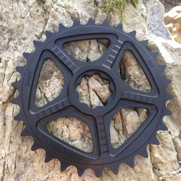 Black anodized FUSION sprocket